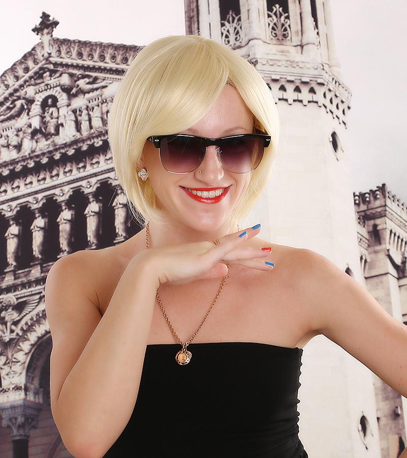 2015 new BOBO head wig AliExpress selling gold short hair repair face models factory direct(China (Mainland))