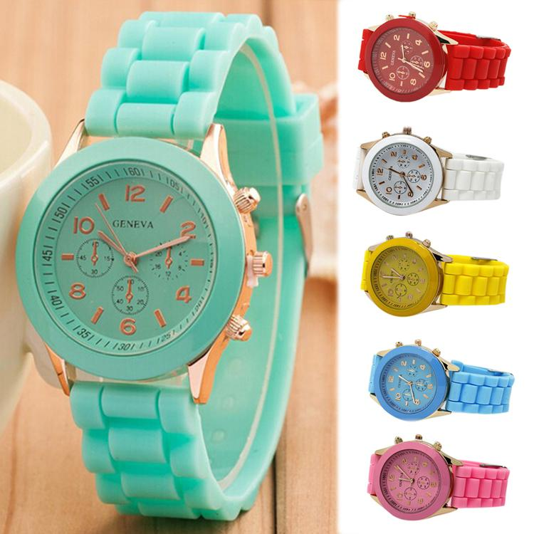 Fashion Silicone Watches Men & Women Casual Watches Ladies Quartz Unisex Jelly Watch Yellow Brown Blue Pink Drop Shipping WH-055(China (Mainland))