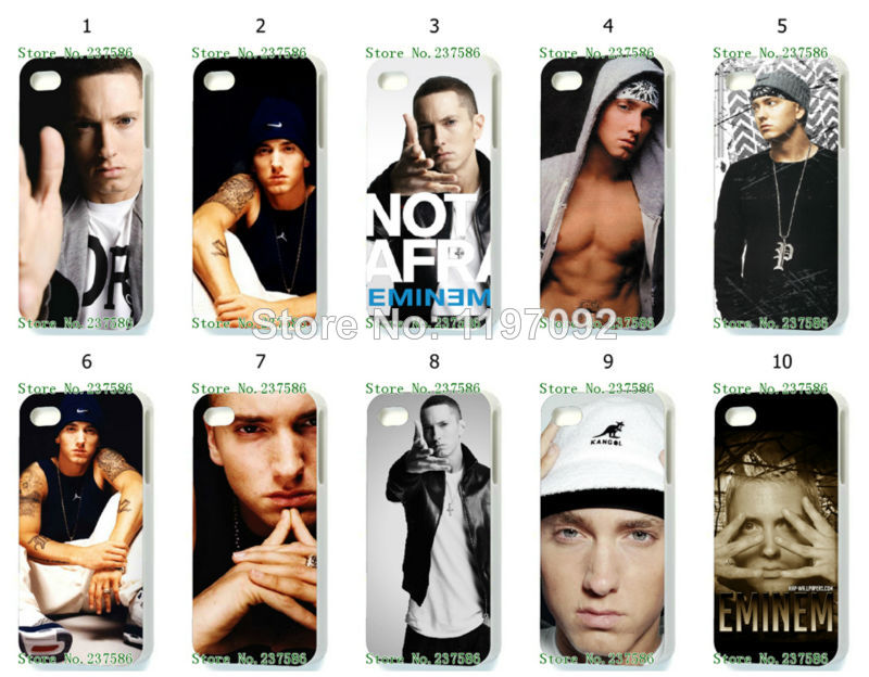 2014 design eminem hard white case cover iphone 4 4s + - casefactory store