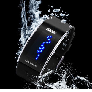 Relogio SKMEI Blue LED Touch Screen Men Electronic Digital Watch 3 ATM Waterproof Light Watches Male Clock Reloges Montre Homme(China (Mainland))