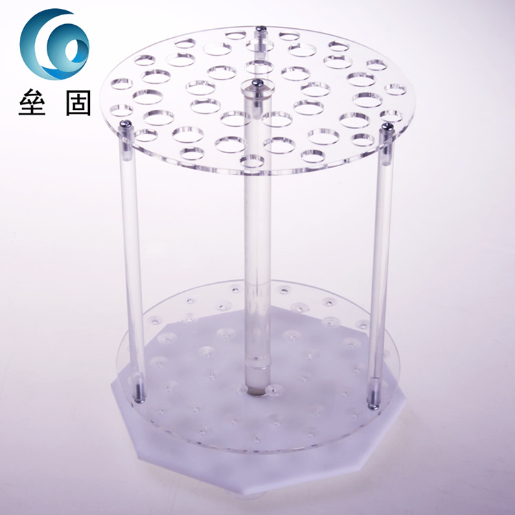 39 holes circular pipette stand Organic glass graduated pipette rack pipette holder 39 holes circular pipet rack