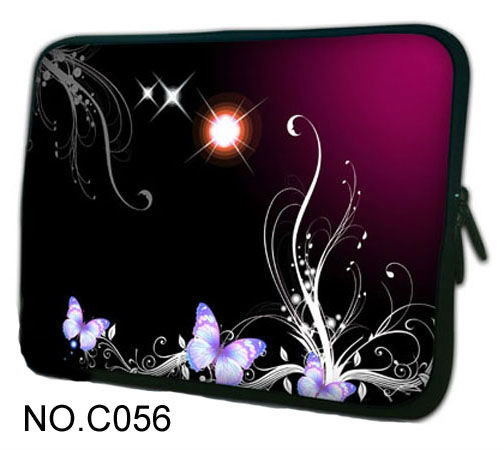 """Starry sky purple butterfly 13"""" Universal Laptop Sleeve Case Bag Cover For 13.3"""" Apple MacBook Pro/HP Folio Thinkpad VAIO(China (Mainland))"""