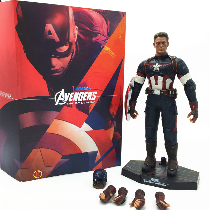 1pcs/set Captain America Avengers Action Figures Change Hand Hot Toys Super Hero Marvel Iron Man Marvels 12 Model Toys Gifts<br>