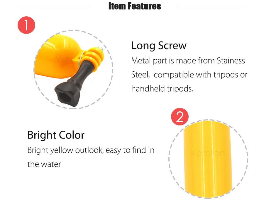 Gopro Accessories Set Camera bag Chest Head Strap Monopod Floating Bobber For gopro Xiaomi yi 4k sj40 action camera VS05