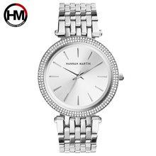 En Lüks Marka Bayanlar Bilek Saatler Gümüş Çelik Kadınlar Bilezik İzle Moda Taklidi Elmas Kadın Saat Relogio Feminino(China)