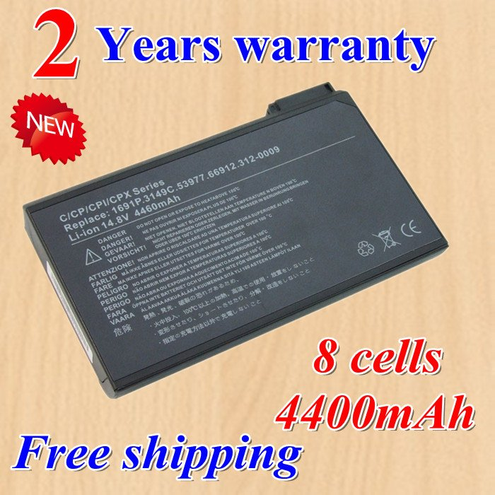 Hot + new 8 Cell Laptop battery for DELL Latitude C500 C510 C540 C600 C610 C640 1691P 75UYF black +gift(China (Mainland))