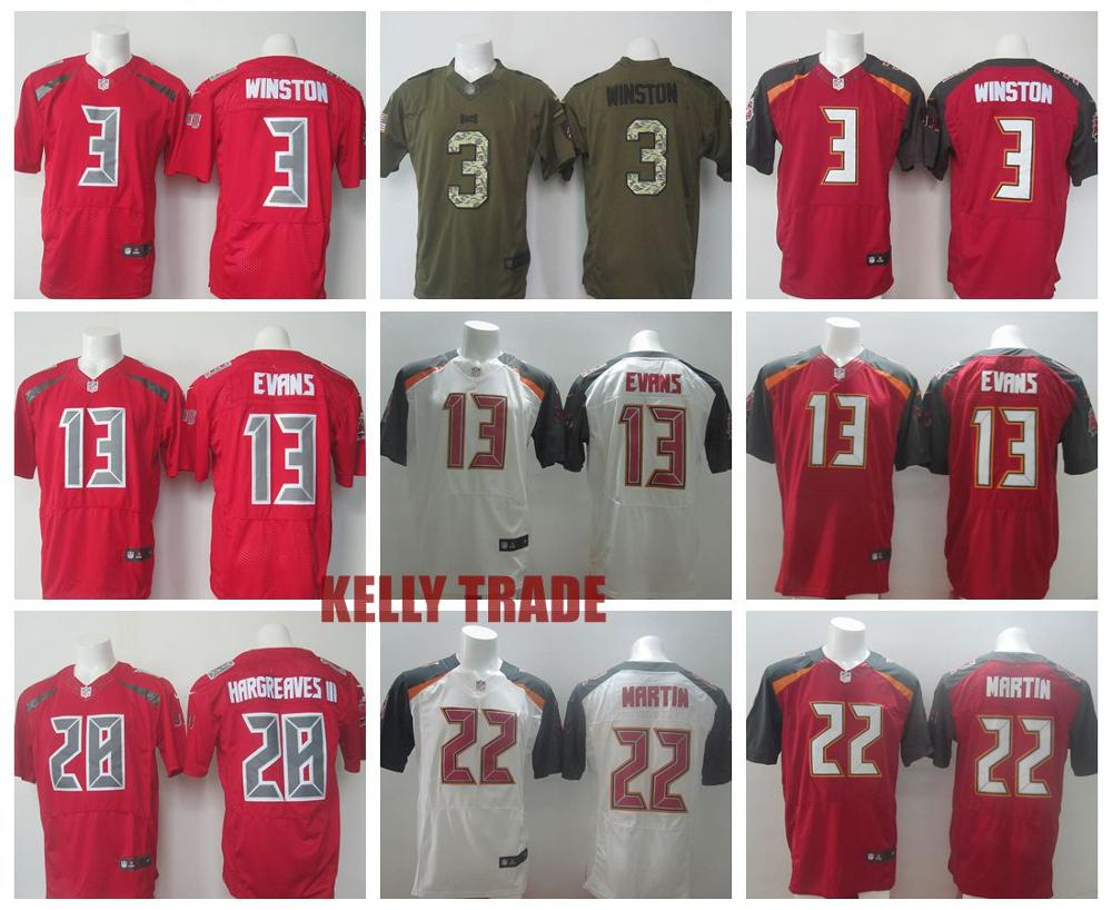 100% Stitiched,Tampa Bay Buccaneers,#3 Jameis Winston,#13 Mike Evans,#22 Doug Martin,Vernon Hargreaves,Warren Sapp,customizable()