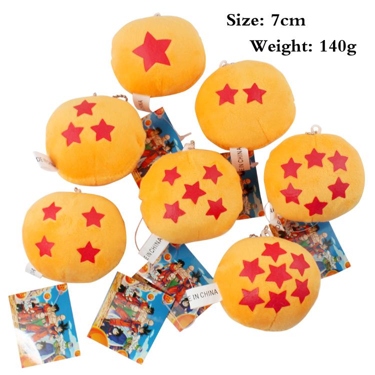 Dragon Ball Z Plush Toys Dragon Balls Toys Stuffed Doll Anime DBZ Soft Stuffed Balls 1-7 Star Doll Juguetes Esferas Del Dragon(China (Mainland))