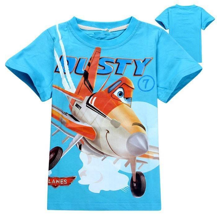 Retail 2015 kids boys T shirt Cartoon airplane new summer childrens t-shirt kids cartoon girls baby short sleeves Free shipping<br><br>Aliexpress