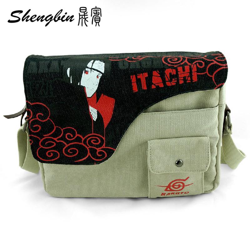 Naruto Itachi Messenger Bags Anime Shoulder Canvas Student Crossbody Bag Canvas tote Naruto Itachi Messenger Bag(China (Mainland))