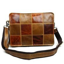 "2016 Brand Men Briefcase Genuine Leather Business Bag 14"" Leather Laptop Briefcase Shoulder Bags Men's Messenger Travel Bags(China (Mainland))"