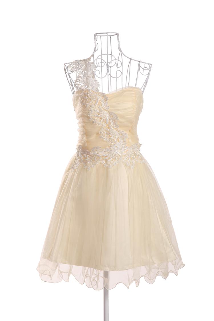 Wholesale Lace One Shoulder Bridesmaid Dress Tulle Cheap