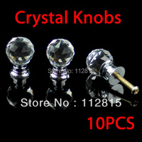 K9 round Cabinet Crystal Knobs Door Handles Zinc Alloy base (clear Crystal diamond) 20mm 10pcs/lot