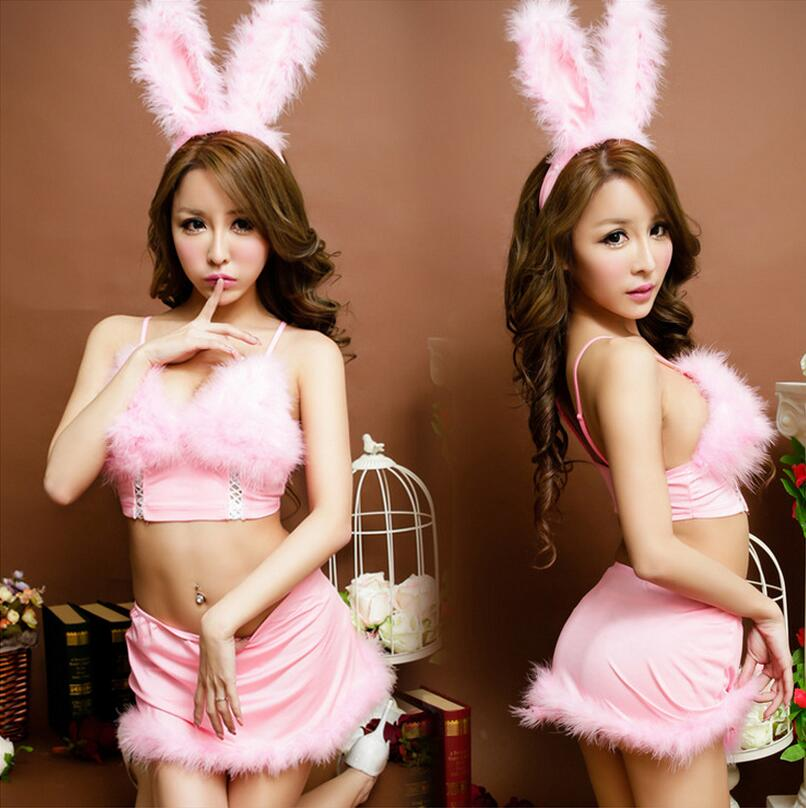 Lenceria Sexy Women Erotic Lingerie For Role-playing Games Cosplay Cute Bunny Costume Ladies Sexy Underwear Sex Products CE459(China (Mainland))
