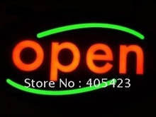 good quality 430X230mm can design and customer-made EPOXY open LED light sign(China (Mainland))