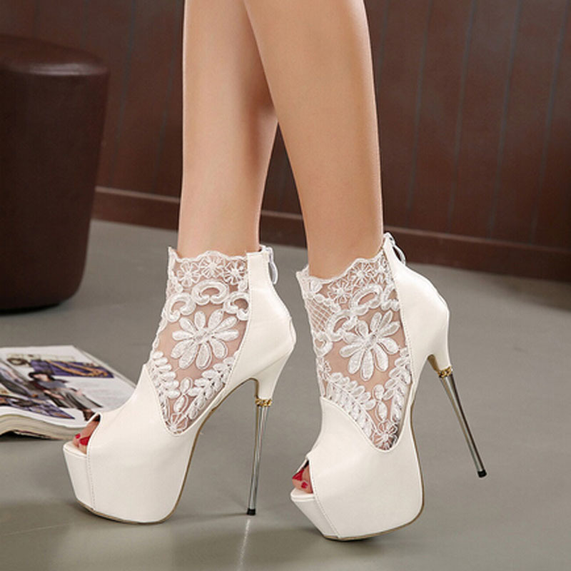White High Heels Cheap - Qu Heel