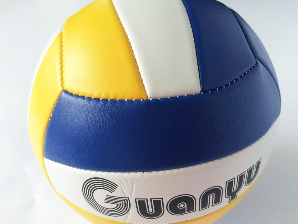Official Outdoor Indoor Size 5 Sand Beach Volleyball Game Ball Soft PU Leather Match Training Volleyball Handball Ball Voleibol(China (Mainland))