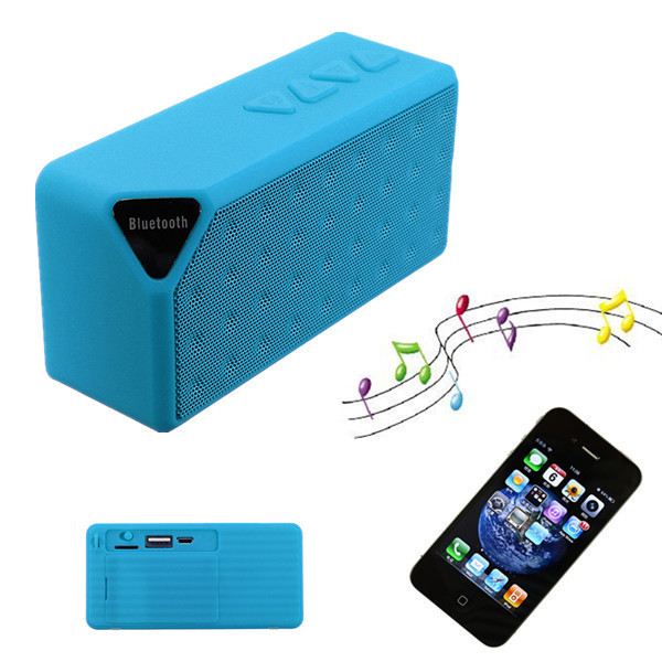 Mini X3 New High Quality Wireless Bluetooth FM TF USB Hands-Free With Mic Bass Speaker For Galaxy S5 S4 For iPhone<br><br>Aliexpress