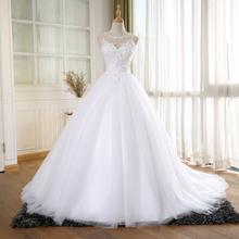 Buy BEPEITHY Ball Gown Vintage Wedding Dress Pearls Vestido De Novia Princess New Bridal Dresses 2016 Robe De Mariage for $106.24 in AliExpress store
