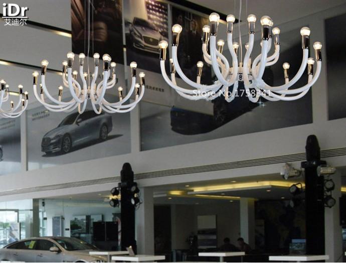 Купить Винтаж минималистский современной гостиной белый лебедь голову вилла высокое качество зал торговый центр проект Люстры Высококлассные атмосферу