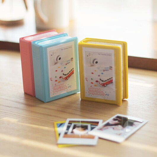 7 colors Vintage Bind Mini Szie Polaroid photo picture Album Case fujiFilm Instax Film Size - B&M E-Commerce Co.,Ltd store