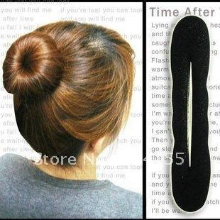 New Arrival 4pcs 2 L+2S Hair Styling Donut Magic Sponge Bun Ring Maker Former Twist Tool Free Shipping