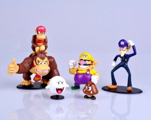 Lot 6 pcs Super Mario Bros Figures Donkey Kong Waluigi Wario Ghost Goomba Toy lx Kids Action Figure Toys Robot(China (Mainland))