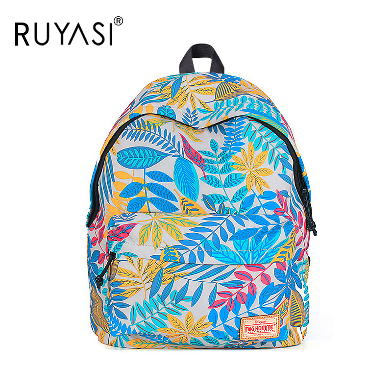 2016 New Fashion Women Backpack Canvas Woman Printing Ladies School Shoulder Bags Girls - Clever life store