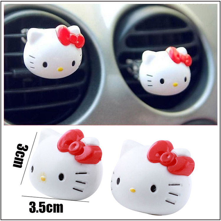 Hello Kitty Air Freshener Perfume Diffuser for Auto Car Perfume Holder Plastic Air Freshener Hot Sales Cleaner In Car XS09(China (Mainland))