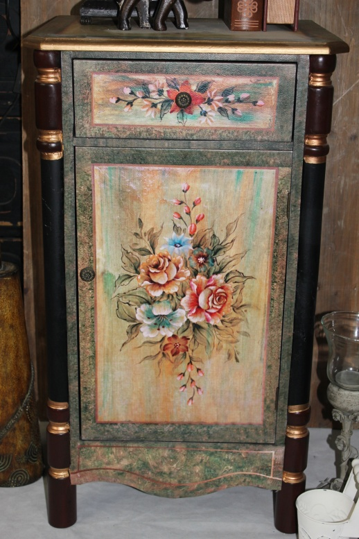 French Hand Painted Bedside Tables