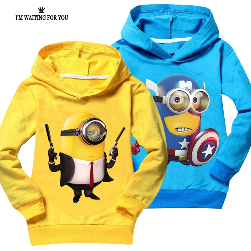 Minions t shirt top quality baby girl clothes despicable me children
