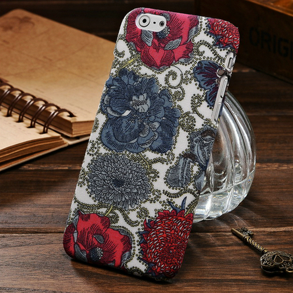 10 Pcs/lot Vintage Flower Polyester Skin Plastic Case iPhone 6 4.7 Inches Hard Back Cover Styles Phone Bag - artisome Official Store store