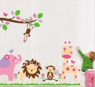 6pcs Free Shipping 60*90CM PVC New  Home/Kids Rooms DIY Decoration Removable Wall Stickers 002001 (62)