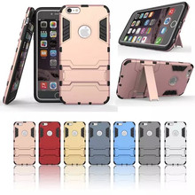 Luxury Tough Slim Armor Iron Man Case For iphone 5 5s 6 6s 7 7 Plus Coque Cases Back Cover With Stand Function(China (Mainland))