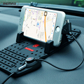 Remax Car Adjustable Bracket Connector Magnetic Phone Holder Mounts Charging With USB Cable For iPhone iPad