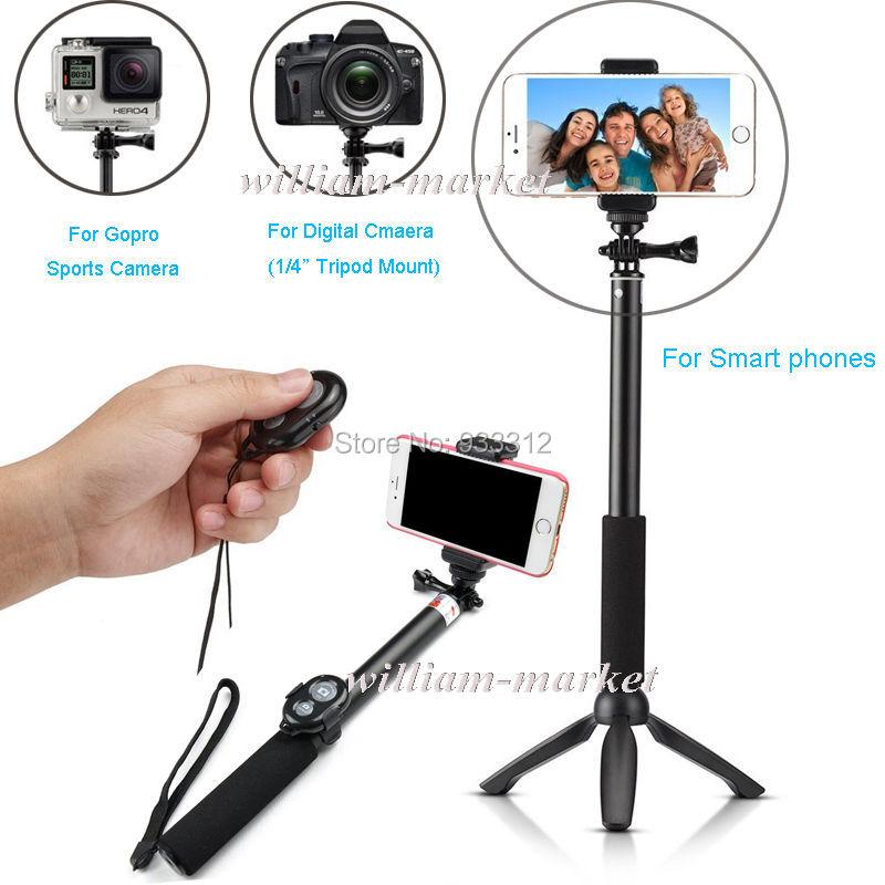 wireless bluetooth remote shutter selfie stick gopro 39 monopod yunteng tripod for samsung 6s. Black Bedroom Furniture Sets. Home Design Ideas