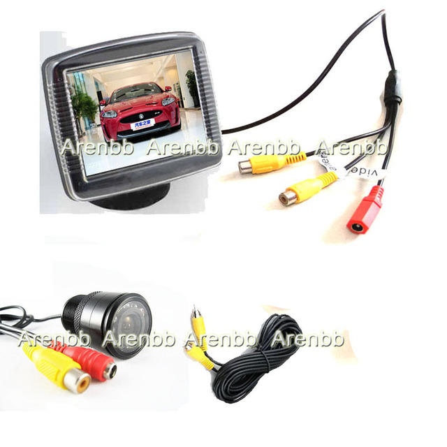3.5INCH lcd car rearview monitor+night vision 120 degree ccd hd back up car camera car system Accessories Parking Assistance