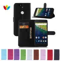 Hot Selling Huawei Nexus 6P Case Wallet Style PU Leather Case for Huawei Nexus 6P with Stand Function and Card Holder 9 Color