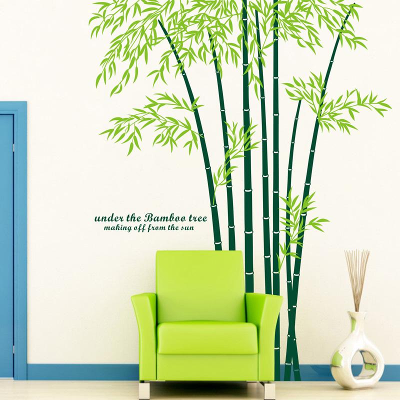 Groothandel ikea stijl tv sofa grote muurstickers bamboe muurstickers ...