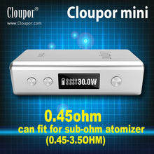 Original Cloupor Mini 30W VV VW Mode Box Mod Mini Size fit for RBA Atlantis RDA Sub-ohm tank fit 18650 Battery E Cigarette Mods