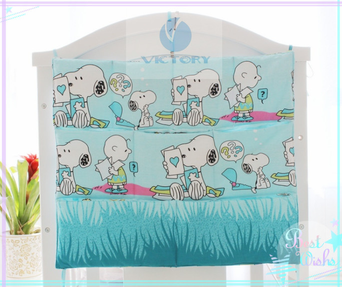 Light Blue Crib Organizer Painting Style Give A Person The Feeling That Find Everything New And Fresh(China (Mainland))