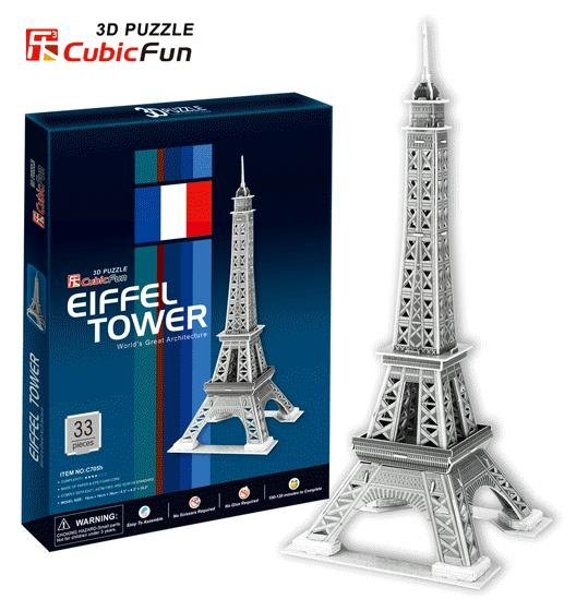 Paper model,Children's DIY toy,Paper craft,Birthday gift,3D educational Puzzle Model,Card model,Eiffel Tower(China (Mainland))