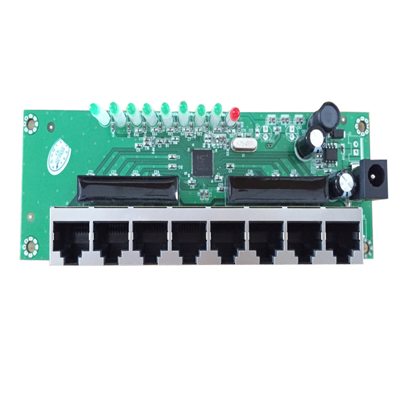 oem 8 port mini ethernet switch board<br>