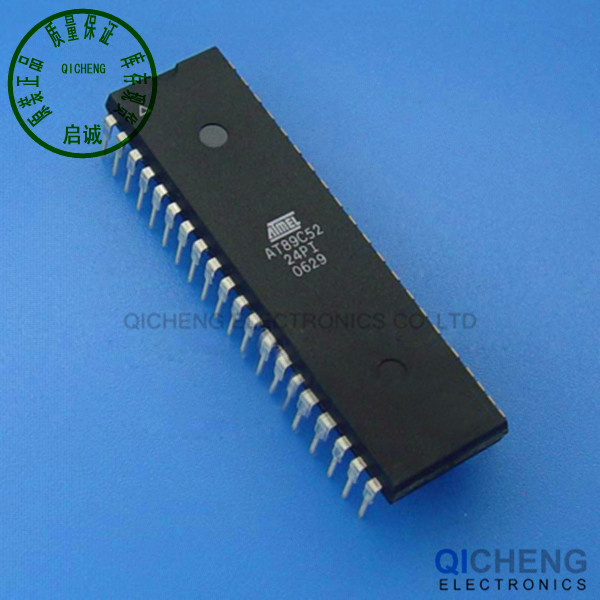 Free shipping ATMEL 89C52 AT89C52-24PI AT89C52-PI 89C52-24PI IC MCU 8BIT 8KB FLASH DIP-40 10Pcs/Lot(China (Mainland))