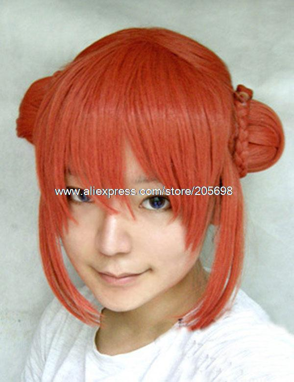 Гаджет  Gintama Kagura cosplay wig anime halloween christmas Free Shipping None Изготовление под заказ