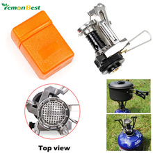 2016 free shipping Outdoor Picnic Cookout BBQ Gas cooker cool tools Portable Camping Mini Steel Stove Case Cooker(China (Mainland))