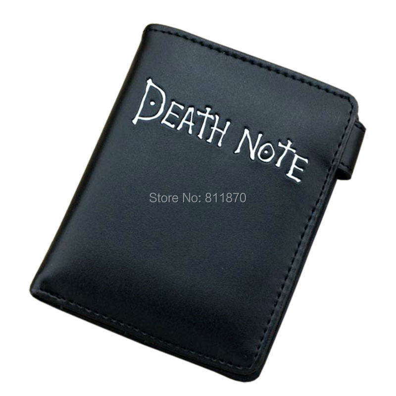 Cosplay L Lawliet Yagami Light Death Note Logo Hi-Q PU Leather Wallets Coin Purse Burse Moneybag Vertical Free Shipping(China (Mainland))