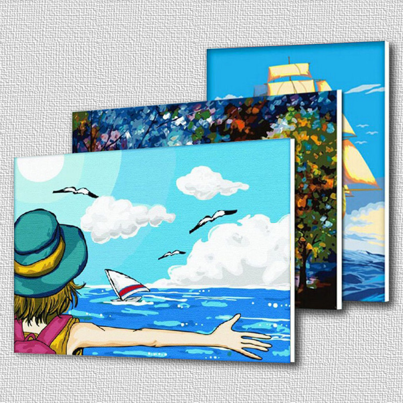 NEW DIY Coloring by Numbers Digital Oil Painting With frame Wall Art Canvas Pattern Home Decor Golden Heart 5028 40*50cm