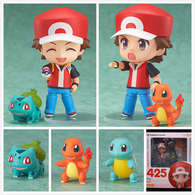 Charmander Bulbasaur Zenigame Squirtle Ash Ketchum Anime Pocket Monster Pokemon 10cm PVC Action Figure Collectors Kid Toys Gift(China (Mainland))