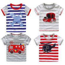 Baby striped T-shirt summer 2016 Korean version of the new boy's children's short sleeved shirt tx-7123